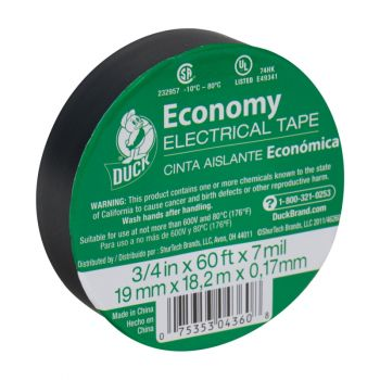 Duck® Brand Economy Electrical Tape - Black, .75 in. x 60 ft. x 7 mil.