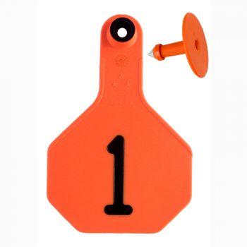 Y-Tex All American 3-Star Medium Ear Tags 1-25, Orange, 2 Pc.