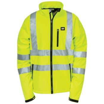 CAT Hi-Vis Soft Shell Jacket, Hi-Vis Yellow