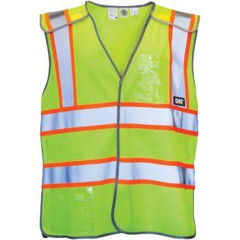 CAT 5-Point Breakaway Vest, Hi-Vis Yellow, M/L
