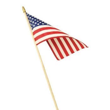 "12"" x 18"" U.S.A. Stick Flag"