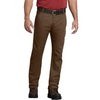 Dickies Men's FLEX Regular Fit Straight Leg Tough Max™ Duck Carpenter Pants, Stonewash Timber, 42x32