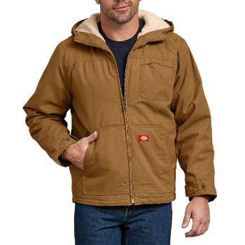 Dickies Men's Duck Sherpa Lined Hooded Jacket