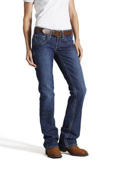 Women's FR Mid Rise Durastretch Basic Boot Cut Jeans - Blue Quartz