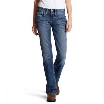 Women's FR Mid Rise Durastretch Entwined Boot Cut Jeans – Oceanside