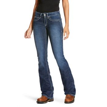 Women's FR Mid Rise Durastretch Crossing Boot Cut Jeans - Volta 2