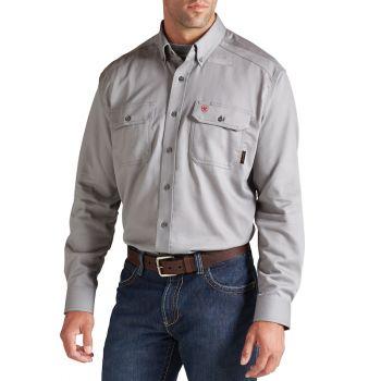 Men's FR Solid Work Shirt - Silver Fox