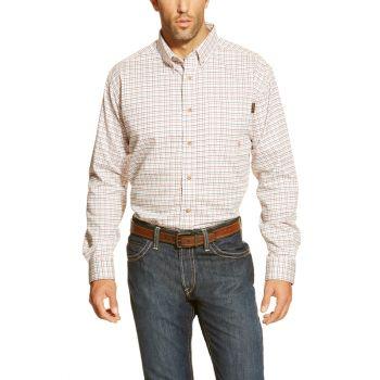 Men's FR Gauge Work Shirt - White Multi