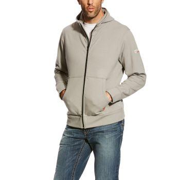 Men's FR DuraStretch Full Zip Hoodie - Silver Fox, 3XL