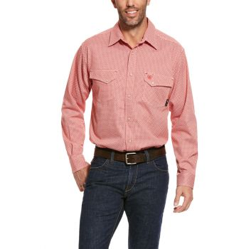Men's FR Olmeca Snap Work Shirt - Cherry Bark