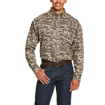 Men's FR Partiot Work Shirt - Sage Digi Camo