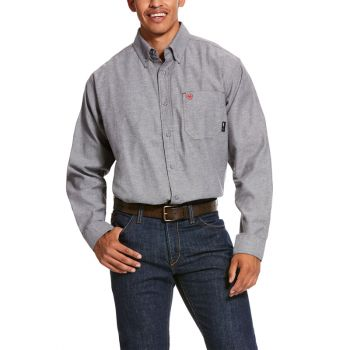 Men's FR Solid Twill DuraStretch Work Shirt