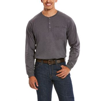 Men's FR Air Henley Top - Charcoal Heather