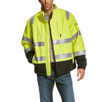 Men's FR HI-VIS H20 Insulated Waterproof Jacket - HI-VIS Yellow