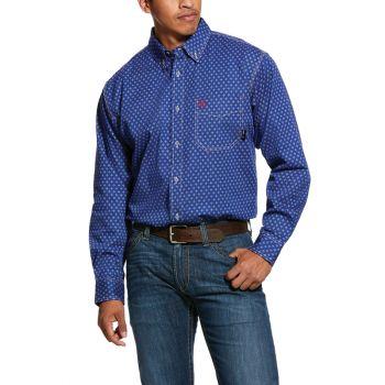 Men's FR Denali Work Shirt - Blue Depths