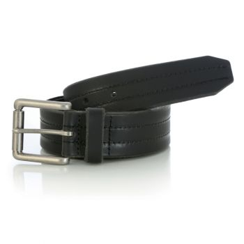 Men's Double Stitched Belt – Black