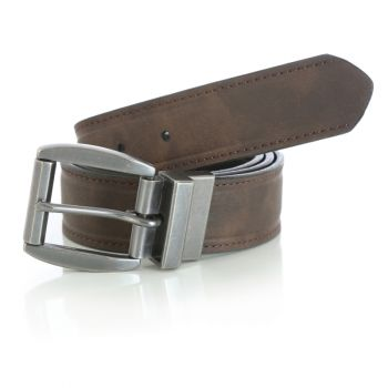 Men's Reversible Jean Belt – Brown/Black