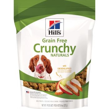 Hill's Natural Grain Free treats for dogs with Chicken & Apples, Crunchy Dog Treat, 8 oz bag