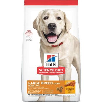 Hill's Science Diet Adult Light Large Breed Dry Dog Food, Chicken Meal & Barley, 30 lb Bag