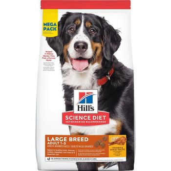 Hill's® Science Diet® Adult Large Breed Chicken & Barley Recipe Dog Food, Mega Pack, 45 Lbs.