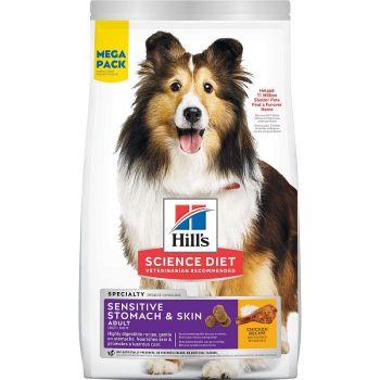 Hill's Science Diet Adult Sensitive Stomach & Skin Dog Food, Mega Pack, 36 Lb.