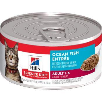 Hill's Science Diet Adult Canned Cat Food, Ocean Fish Entrée, 5.5 oz