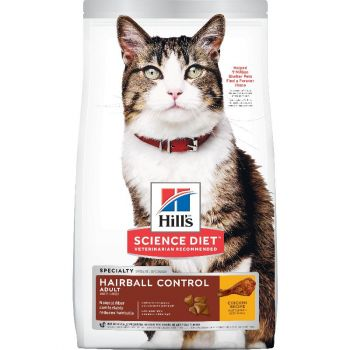 Hill's Science Diet Adult Hairball Control Dry Cat Food, Chicken Recipe, 3.5 lb Bag