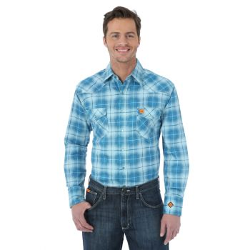 Men's 20X Fire Resistant Long Sleeve Spread Collar Plaid Shirt