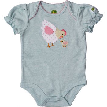 John Deere Girl's Applique Chicken Bodysuit