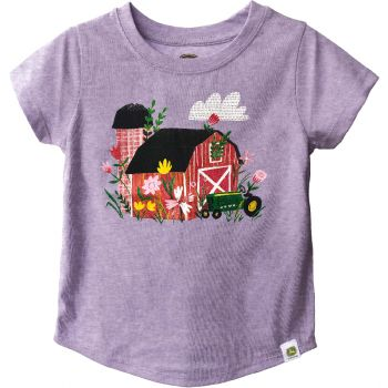 John Deere Toddler Girl's Flower Barn T-Shirt