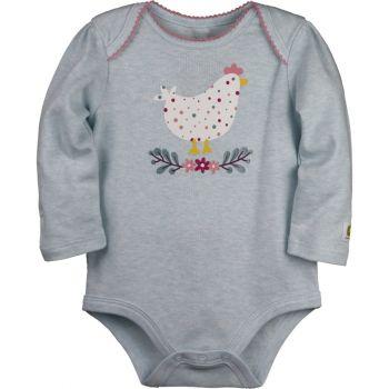 Infant Girl's John Deere Long Sleeve Chicken Bodysuit