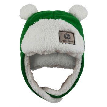 John Deere Toddler Fuzzy Ear Flap Hat, Green