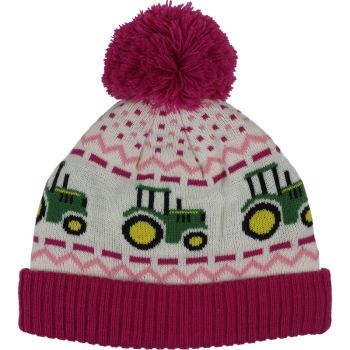 Tractor Fair Isle Knit Beanie, Toddler