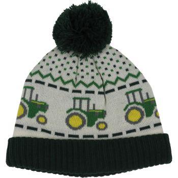 Tractor Fair Isle Knit Beanie, Toddler