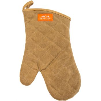 BBQ Mitt – Brown Canvas & Leather