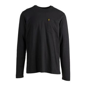 Browning Long Sleeve Pocket Tee, Black, XXL