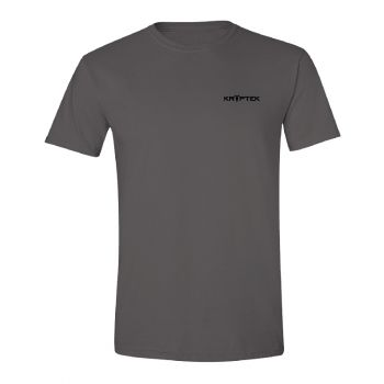 Kryptek Spartan Tee w/ Kryptek Back Print, Charcoal, M