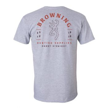 Browning Browning Arch Tee, Sport Gray, L