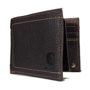 Carhartt Pebble Leather Passcase Wallet, Brown