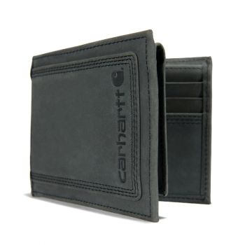 Carhartt Leather Triple-Stitched Passcase, Black