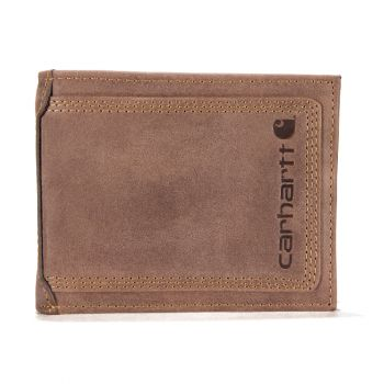 Carhartt Leather Triple-Stitched Passcase, Brown