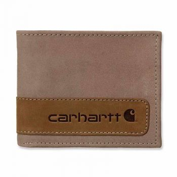 Carhartt Two-Tone Billfold with Wing Wallet, Brown