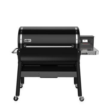 Weber SmokeFire EX6 Wood Fired Pellet Grill, Black