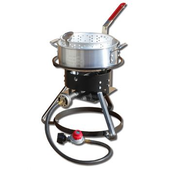 """12"""" Bolt Together Outdoor Cooker Package with Aluminum Fry Pan"""