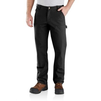 Men's Rugged Flex Relaxed Fit Duck Double Front Pant – Black