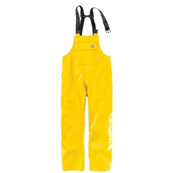 Men's Midweight Waterproof Rainstorm Bib Overalls - Yellow,3XL