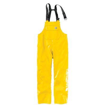 Men's Midweight Waterproof Rainstorm Bib Overalls - Yellow,2XLT