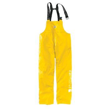 Men's Lightweight Waterproof Rainstorm Bib Overalls - Yellow,XXL