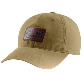 Rigby Stretch Fit Leatherette Patch Cap - Dark Khaki, M/L