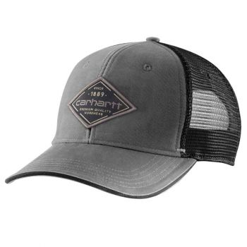 Canvas Mesh-Back Premium Quality Graphic Cap, OS